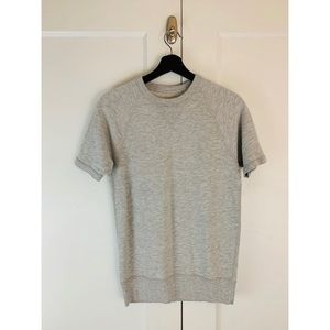 J.Crew Short Sleeve Fleece Sweatshirt XS